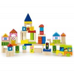 Drewniane klocki Viga Toys Miasto 75 elementów
