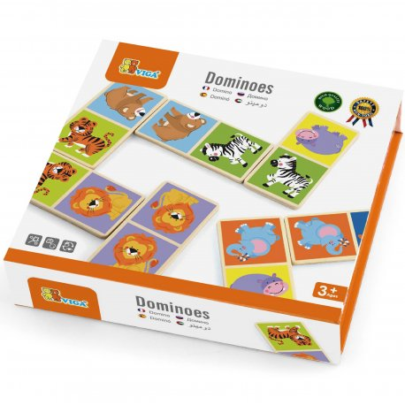 Drewniana gra Domino Zoo Viga Toys 28 elementów