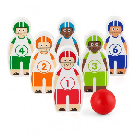 Drewniane kręgle piłkarzyki Baseball Viga Toys