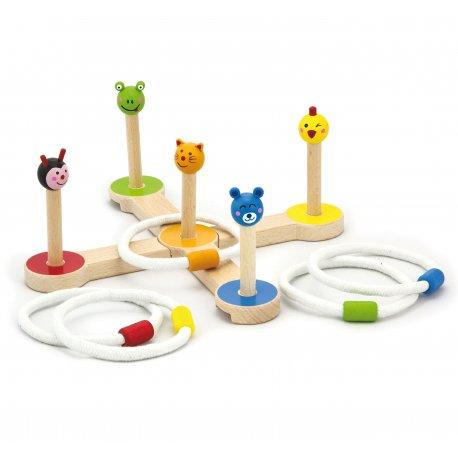 Drewniana Gra zręcznościowa Krzyżak Rzut do celu Zwierzątka Viga Toys