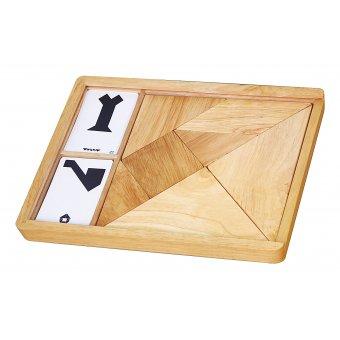 Drewniana układanka Tangram 7 elementów Viga Toys