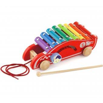 Kolorowe Cymbałki Samochód wyścigowy Viga Toys