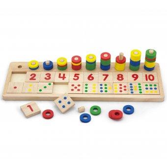 Drewniane Liczydło kreatywne Liczarka Viga Toys