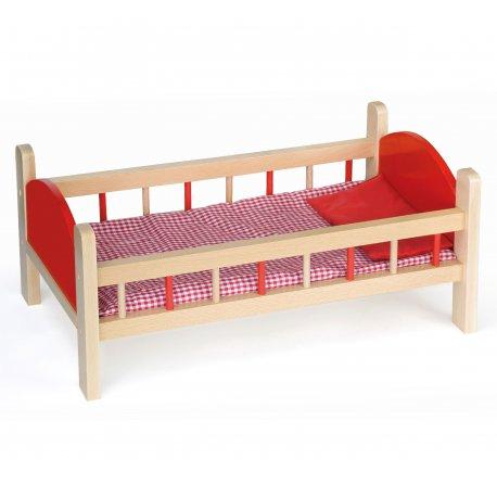 Drewniane łóżeczko dla lalek Viga