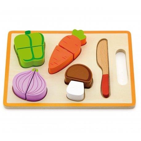 Drewniany Zestaw Do Krojenia z warzywami Viga Toys
