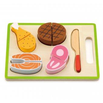 Drewniany Zestaw obiadowy Do Krojenia Viga Toys