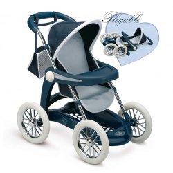 Granatowa Spacerówka wózek dla lalek Chuli Max Pilante Smoby Inglesina