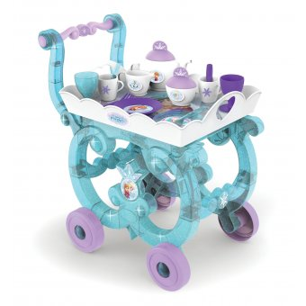 Smoby Wózek z tacą i kompletem zastawy Frozen