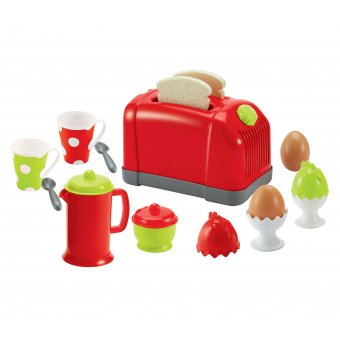 Ecoiffier Zestaw Śniadaniowy z tosterem 17 akcesoriów