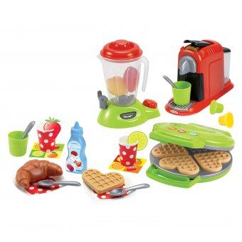 Ecoiffier Wielofunkcyjny Zestaw Śniadaniowy z AGD 28 elementów
