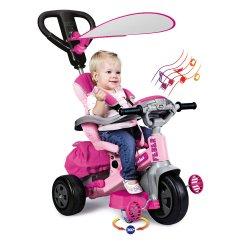 Feber Różowy Rowerek trójkołowy Baby Twist 4w1 - Obrotowy 360 stopni