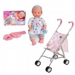 Zestaw Deluxe Lalka 42 cm + Spacerówka Baby Born z Torbą na zakupy
