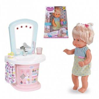 Interaktywna Lalka Pierwsze kroki 35 cm + Baby born Interaktywna toaletka umywalka