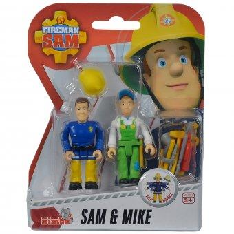 SIMBA Strażak SAM Zestaw Dwóch Figurek Sam & Mike + Akcesoria