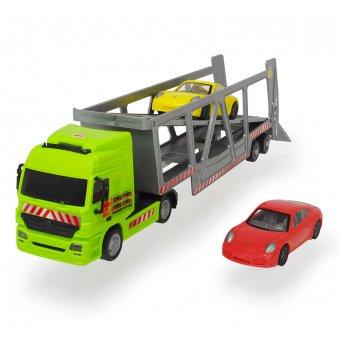DICKIE Ciężarówka Laweta 38 cm z dwoma samochodami Porsche