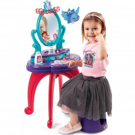 Toaletka Enchantimals bezpieczne lustro Smoby + taboret