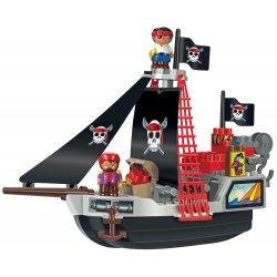Smoby - Ecoiffier Abrick Klocki Zestaw Statek Piracki z figurkami piratów 29 el.