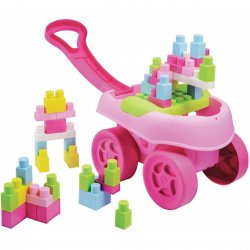Ecoiffier Abrick Różowy Wózek z Klockami 40 elementów