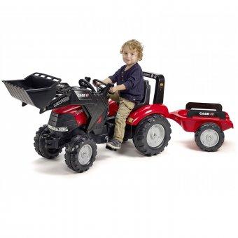 Case LRX1130 Traktor na pedały z łyżką i przyczepą FALK