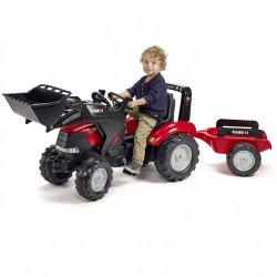 FALK Traktor na pedały Case LRX1130 z łyżką i przyczepą