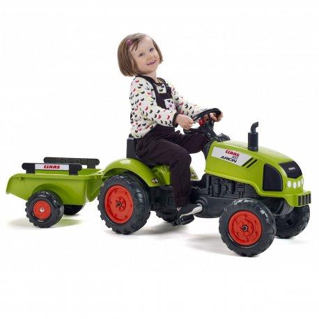 FALK Traktorek na pedały Claas Arion 410 z przyczepą