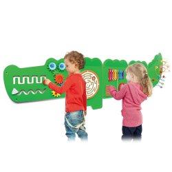 Viga Tablica Sensoryczna Manipulacyjna Edukacyjna Krokodyl