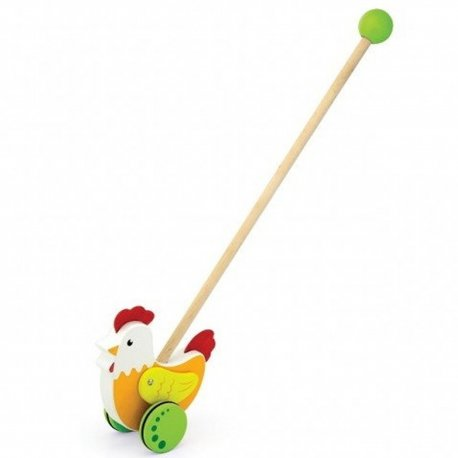 Viga Toys Drewniany Pchacz Kogucik