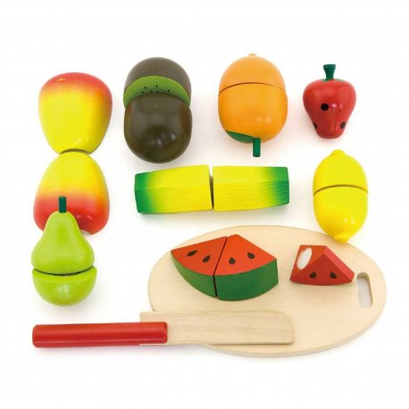 Viga Drewniany Zestaw owoców do krojenia
