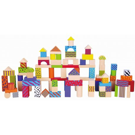 Viga Klocki Drewniane Miasto 100 elementów
