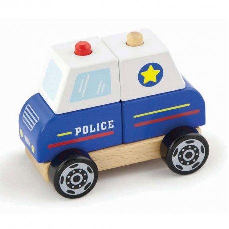 Viga Zestaw klocków Policja