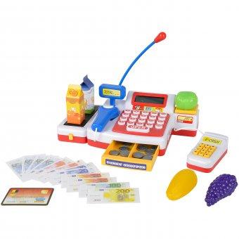 Kasa Elektroniczna Fiskalna sklepowa dla dzieci czytnik kodów Simba