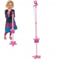 Simba Różowy mikrofon mp3 ze statywem