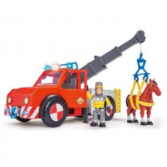 Simba Strażak SAM Dźwig Phoenix Figurka i Koń efekty Świetlne