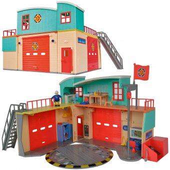 SIMBA Strażak SAM Remiza Baza stacja ratunkowa z figurką