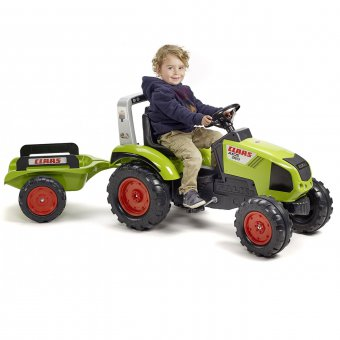 Claas Axos 330 Traktor z przyczepą FALK