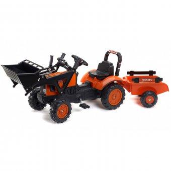 Kubota M7171 Traktor z przyczepą i łyżką FALK