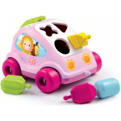 Smoby Cotoons Samochód z Klockami Sorter różowy