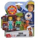 Simba Figurki Strażak Sam Sarah, James i Lion z akcesoriami