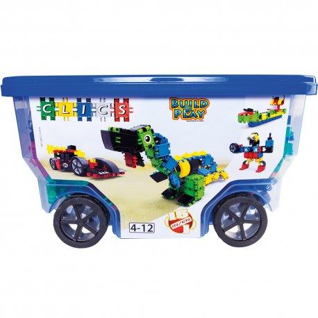 CLICS Klocki Rollerbox 15w1 Build & Play