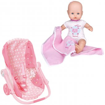 Nosidełko i wózek dla lalki + Lalka Nenuco