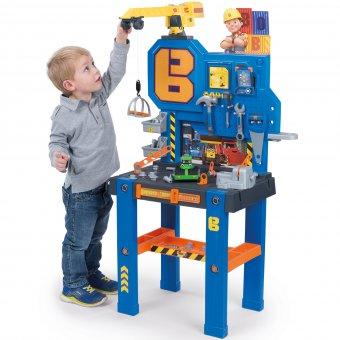Warsztat Bob Budowniczy Bricolo Center z dźwigiem dla dzieci