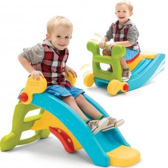 Fisher Price Zjeżdżalnia Bujak 2w1 Slide to Rocker plac zabaw + bramka piłkarska gratis