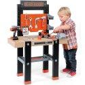 Black&Decker Duży Warsztat dla dzieci 91 elem. wiertarka Smoby