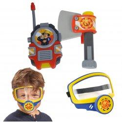Strażak Sam zestaw maska gazowa toporek krótkofalówka Strój Karnawałowy