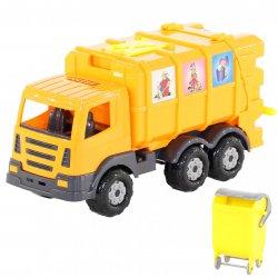 WADER Śmieciarka Auto Ciężarówka Kontener + Kosz