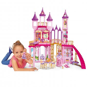 Domek dla Lalek Pałac Zamek Simba + 2 Lalki Steffi Evi + 2 Pieski
