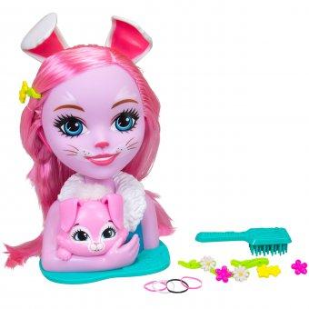 Głowa do stylizacji Enchantimals Simba Mattel Lalka Bree Bunny