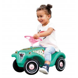 Jeździk Big Bobby Car Classic Tropic Flamingo klakson
