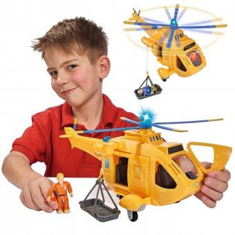 Strażak Sam Helikopter Ratunkowy Wallaby II Dźwięk Światło + Figurka TOM Simba