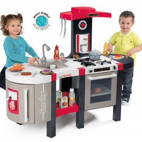 Kuchnia Smoby Deluxe Bubble Elektroniczna 44 Akc Tefal Dla Dzieci
